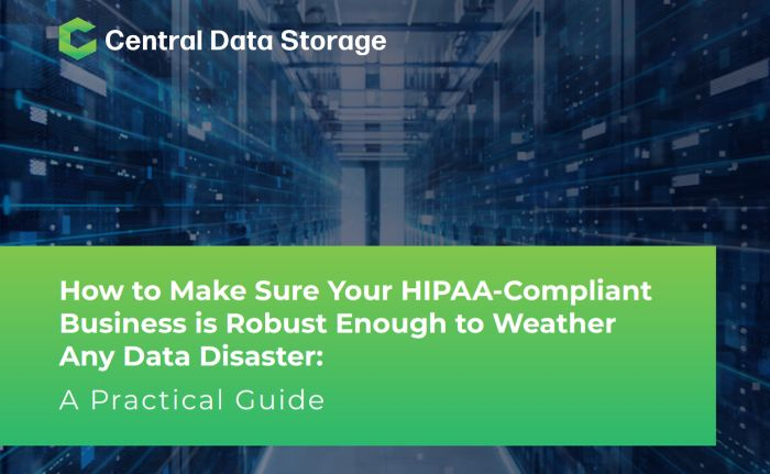 HIPAA-compliant data backup and recovery